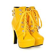 Women's Heels Fall / Winter Heels PU / Leatherette Outdoor / Dress / Casual Chunky HeelBlack / Brown /