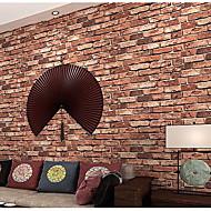 Carreau vernisé / Brique Fond d'écran pour la maison Classique Revêtement , Tissu Non-Tissé Matériel adhésif requis fond d'écran ,