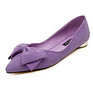 Women's Loafers & Slip-Ons Fall Comfort Fleece Outdoor Low Heel Bowknot Black Blue Pink Purple Walking