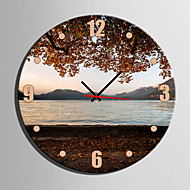 E-HOME® Lake Scenery Clock in Canvas 1pcs