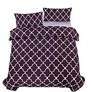 גיאומטרי סטי שמיכה 3 חלקים פולי / כותנה עכשווי הדפסה תגובתית פולי / כותנה זוגי / מלא / קווין / קינג 3 יחידות (1 כיסוי שמיכה, 2 כיסוי כרית)