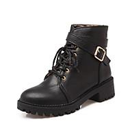 Dame-Lakklær Kunstlær-Tykk hæl Platå-Platå Original Cowboystøvler Snøstøvler Ridestøvler-Støvler-Bryllup Kontor og arbeid Formell Fritid