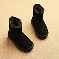 ユニセックス ブーツ オーダーメイド素材 冬 カジュアル フラットヒール ブラック ダークブルー フクシャ Brown キャメル フラット