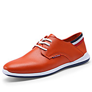 Men's Flats Spring / Summer / Fall / Winter Comfort / Flats Leather Outdoor / Casual Flat Heel Lace-up