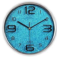 Moderne/Contemporain Décontracté Famille Horloge murale,Rond Verre Intérieur/Extérieur Intérieur Extérieur Horloge