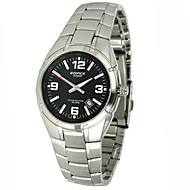 Men's Dress Watch Fashion Watch Stopwatch Quartz Stainless Steel Band Casual Silver