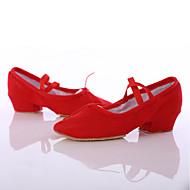 Obyčejné-Dámské-Taneční boty-Latina / Taneční tenisky-Satén-Kačenka-Černá / Růžová / Červená