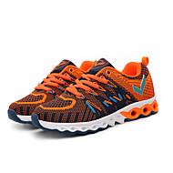Sneakers-Stof-Komfort-Drenge-Orange Grøn-Fritid-Flad hæl