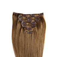 "Remy Clip in Human Hair Extensions - Full Head of 20"" inch human hair -High Quality Remy Hair (#2 Darkest Brown)"