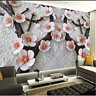 Blumen / Art Deco / 3D Tapete Für Privatanwender Zeitgenössisch Wandverkleidung , PVC/Vinyl Stoff Klebstoff erforderlich Wandgemälde ,
