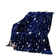 bedtoppings deku flanelové korálové fleece queen size 200x230cm tmavá hvězda tisky 210gsm
