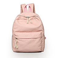 Women Backpack Canvas All Seasons Casual Outdoor Zipper Gray Green Blue Blushing Pink Khaki