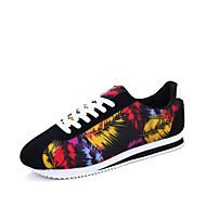 Γυναικεία παπούτσια-Αθλητικά Παπούτσια-Καθημερινό-Επίπεδο Τακούνι-Ανατομικό-PU-Μαύρο Μπλε Κόκκινο