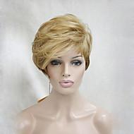 qualitativ hochwertige Wärme freundlich golden blonde ombre kurze asymmetrische Frauen Perücke