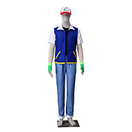 Inspired by Pocket Little Monster Ash Ketchum Anime Cosplay Costumes Cosplay Suits Solid Coat Vest Pants Hat Gloves For Male Female Kid