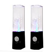 lámpara de cristal de colores de audio subwoofer altavoces del ordenador agua de la fuente de música danza acuática