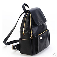 Casual Backpack Women Pigskin Black