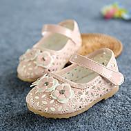 שטוחות-עור-נוחות צעדים ראשונים להאיר נעליים-צהוב ורוד לבן-שטח יומיומי-עקב שטוח