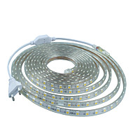 8M  220V Higt Bright LED Light Strip Flexible 5050 480SMD Three Crystal Waterproof Light Bar Garden Lights with EU Power Plug