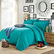 Green Lake High-end Aloe Cotton Reactive Printing Solid Fashion Bedding Set 4PC FULL Size