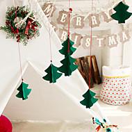 7pcs juletre dekorert tredimensjonale ornamenter nytt vindu hotellet mall ikke-vevd stoff