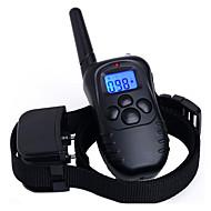 Hunde Bellhalsband / Training - Hundhalsbänder Anti Bark / Wasserdicht / Wiederaufladbar / Fernbedienung / 300M / Vibration Solide Schwarz