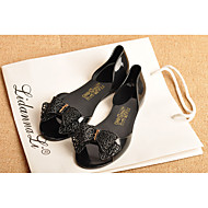 Women's Sandals Summer Comfort Rubber Casual Flat Heel Bowknot Black / Almond Others