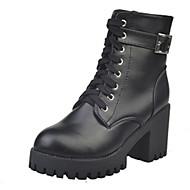 Dame-PU-Tykk hæl Blokker hælen-Komfort-Støvler-Formell Fritid-