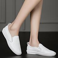 Kényelmes-Lapos-Női-Papucsok & Balerinacipők-Alkalmi-Bőr-Fehér Fekete