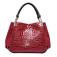 Women Bags All Seasons Patent Leather Tote with for Formal Office & Career Black Dark Blue Dark Red