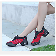 Non Customizable Women's Dance Shoes Fabric Fabric Modern Heels Chunky Heel Performance Black / White