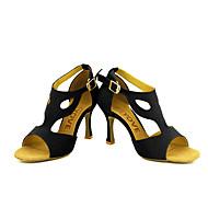 Obyčejné-Dámské-Taneční boty-Latina / Salsa-Semiš-Na zakázku-Černá / Žlutá / Červená