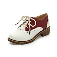 Homme-Bureau & Travail Décontracté-Bleu Rouge-Talon Bas-Confort-Chaussures à Talons-Polyuréthane