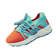 Sportssko-PU-Komfort-Dame-Sort Hvid Orange Mørkerød-Fritid-Flad hæl