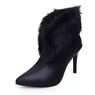 Women's Winter Fashion Boots Comfort Wedding Party And Evening Casual Stiletto Heel Crystal Fur Zipper Boots