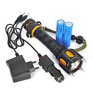 Iluminação Lanternas LED / Lanternas de Mão LED 2500 Lumens 1 Modo Cree XM-L T6 18650.0 Super LeveCampismo / Escursão / Espeleologismo /