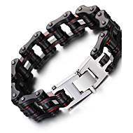 Муж. Браслеты-цепочки и звенья Нержавеющая сталь Мода Геометрической формы Черный Бижутерия 1шт
