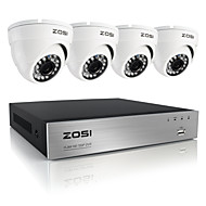 ZOSI®8CH 720P AHD DVR 4PCS 1.0MP Home Security Camera System