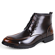 Men's Oxfords Spring Fall Others Rubber Leather Office & Career Casual Low Heel Black Yellow Red Silver Others