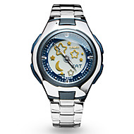 V6 Women's Fashion Watch Water Resistant / Water Proof Quartz Stainless Steel Band Cool Silver