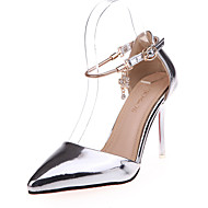 Women's Sandals Spring Summer Comfort PU Casual Low Heel Buckle Pink Silver Gold Others