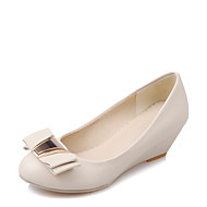 Women's Heels Spring / Summer / Fall Others Dress / Casual Wedge Heel Bowknot Black / White / Beige Others