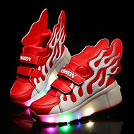 Boys Girl's Athletic Shoes Spring / Summer / Fall / Winter Slide / Comfort Leather Outdoor / Athletic / Casual Low Heel LED Heelys / Hook & Loop /