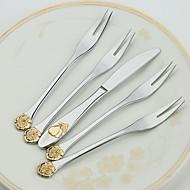 5-Piece Slap-Up Western Restaurant The Kitchen Utensils Stainless Steel Dinner Fork Dinner Knife Spoons  Forks Knives