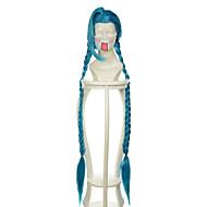 135 εκατοστά lol γρουσουζιά μπλε ειδικό στυλ Απόκριες περούκες περούκες κοστούμι συνθετικές περούκες