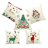 1 pcs Linen Pillow Case,Holiday Accent/Decorative