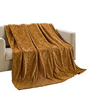 Velocino de Coral Marrom,Sólido Sólido 100% Poliéster cobertores 200x230cm