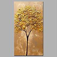 Pintados à mão Abstracto / Floral/Botânico Pinturas a óleo,Modern / Estilo Europeu 1 Painel Tela Hang-painted pintura a óleo For