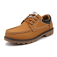 Men's Oxfords Spring Fall Comfort Suede Casual Athletic Flat Heel Lace-up Black Yellow Brown Walking