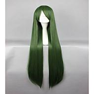새로운 스타일의 동방 프로젝트 미마 특별 짙은 녹색 100cm 긴 직선 코스프레 가발